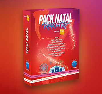 PACK NATAL ROCK IN RIO 2021 POWERED BY FNAC