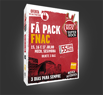 FÃ PACK FNAC SUPER BOCK SUPER ROCK 2021